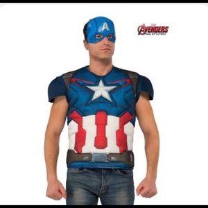 Captain America adult costume top set